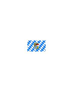 Flagge: Bayern Raute mit Wappen