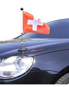 magnetisch haftender Autofahnen-Ständer Diplomat-1.30 Schweiz