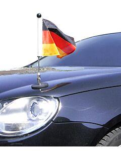 magnetisch haftender Autofahnen-Ständer Diplomat-1.30 Deutschland