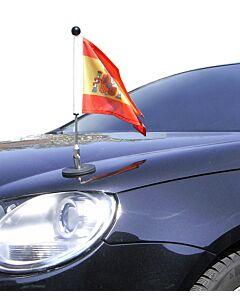 magnetisch haftender Autofahnen-Ständer Diplomat-1 Spanien mit Dienst-Wappen