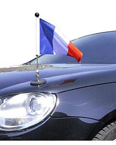 magnetisch haftender Autofahnen-Ständer Diplomat-1 Frankreich