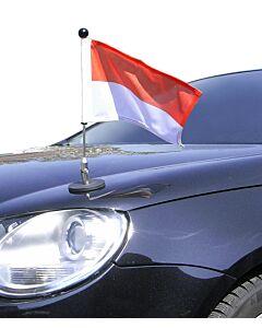magnetisch haftender Autofahnen-Ständer Diplomat-1.30 Monaco