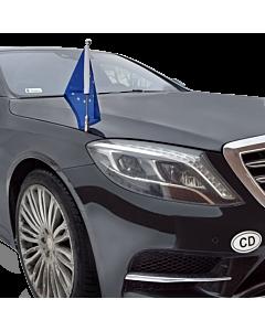 Autoflaggen-Ständer Diplomat-Z-Chrome-MB-W222  für Mercedes-Benz S-Klasse W222 (2013-)