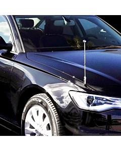 Autoflaggen-Ständer Diplomat-Z-Chrome-AUDI  für Audi A6 & A8